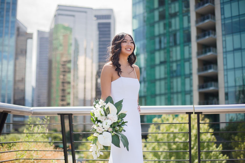 City Chic Vancouver Bride with beautiful NK Beauty Makeup and Hair