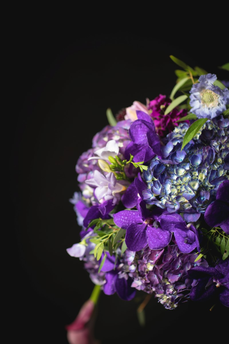 Sophisticated Dark Romance Floral Bouquet for Wedding