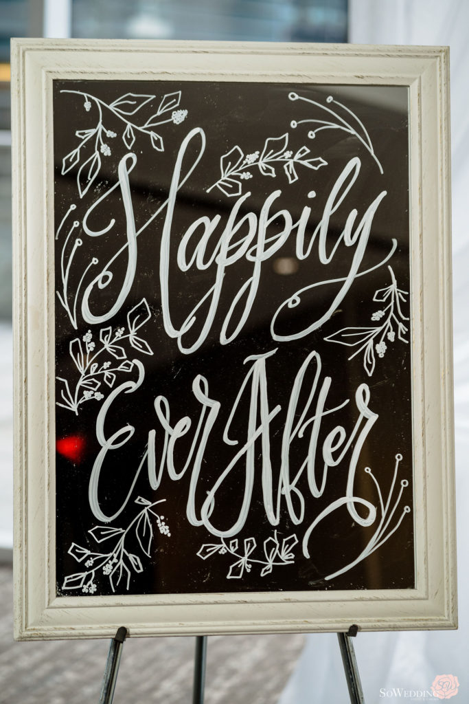 Happily Ever After Wedding Sign by Blanc 143 in Vancouver