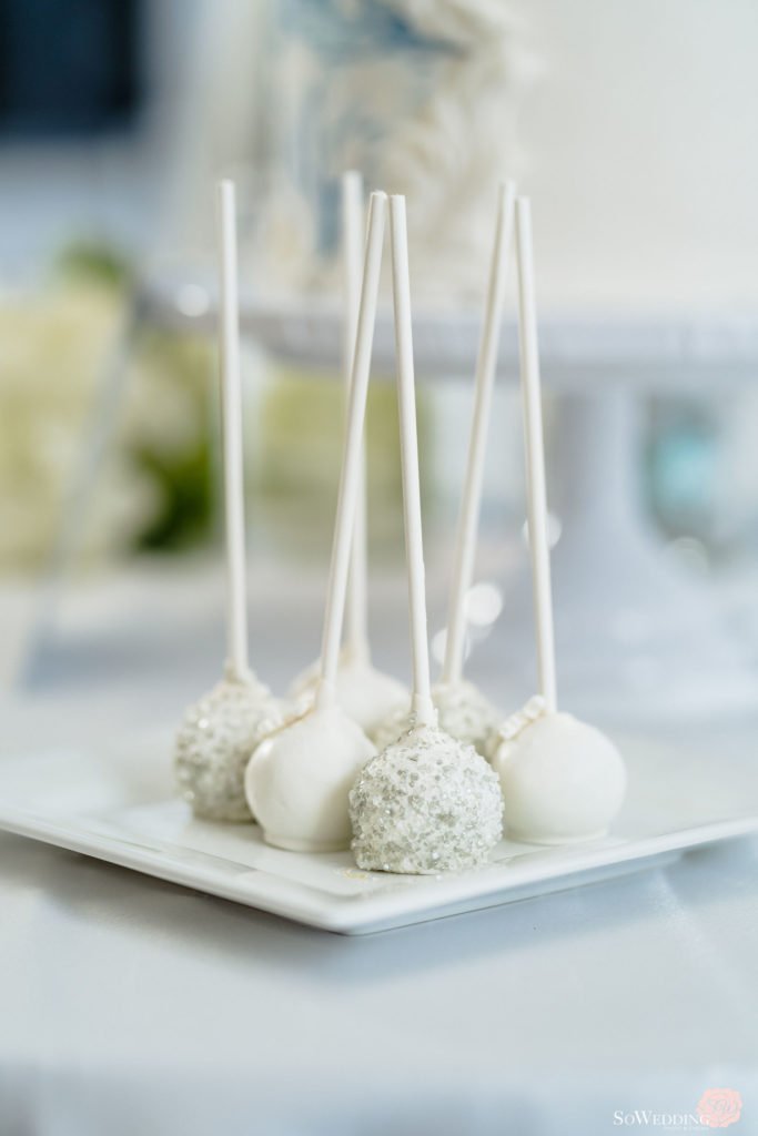 Winter Magic Wedding Cake Pops by So Wedding Photography