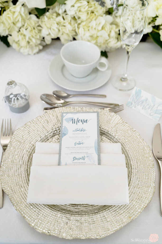 Winter Magic Wedding Reception Setting by Lumina Weddings and Events in Vancouver