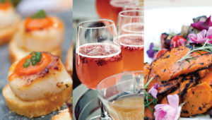 Champagne, treats and desserts by Truffles Catering in Victoria