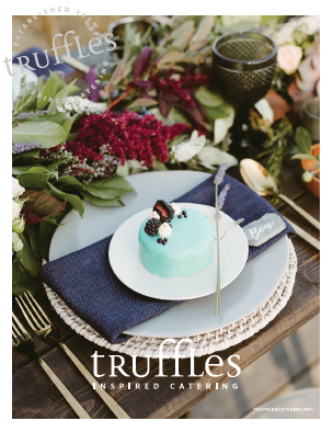 Tip and Tricks for a Perfect Caterer individual wedding cakes by Myrtle and Moss Photography and Truffles Catering Vancouver Island