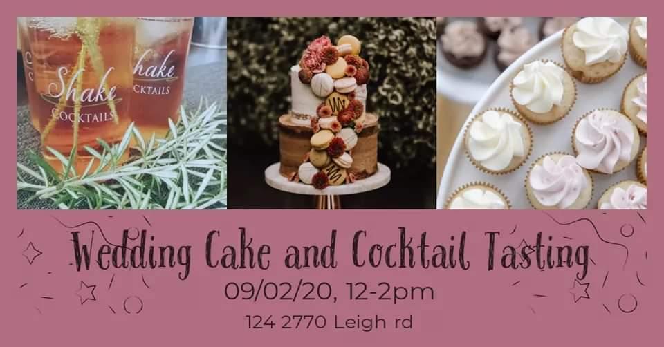 Wedding cake and cocktails Tasting