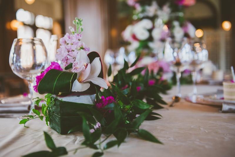 Tropical Empress Wedding Reception Table Bengal Lounge KGoodPhoto
