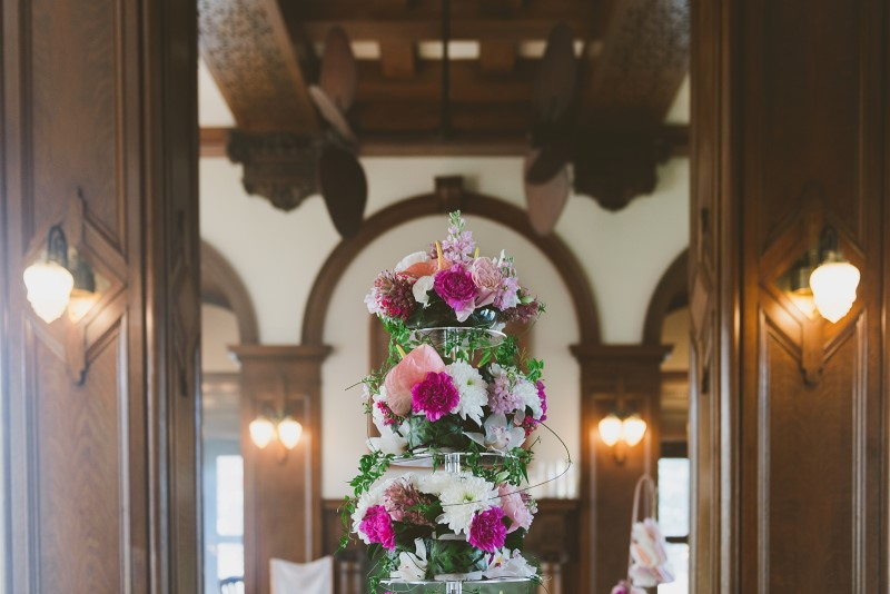 Tropical Empress Wedding Tower of Flowers by Brown's the Florist Vancouver Island