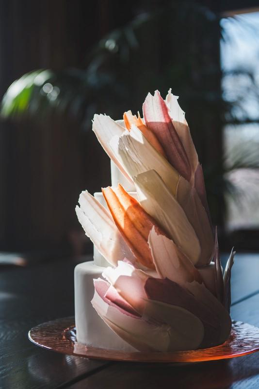 Tropical Empress Wedding Cake by Allison Shelrud