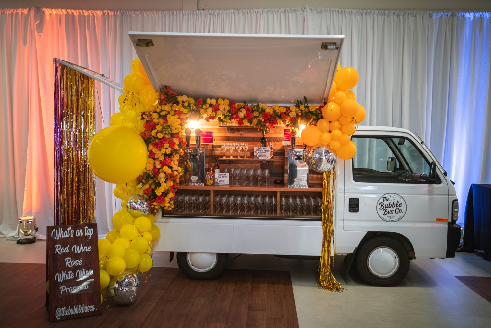 Champagne and Wine by the Bubble Bus Co at Vancouver Island Wedding Awards Gala