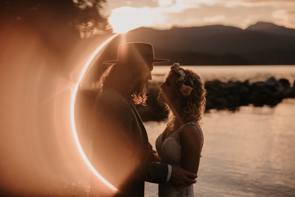 Golden Hour Elopement by the water