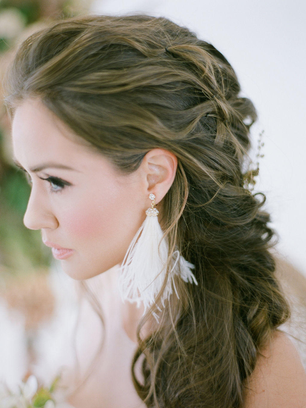 Bride with braided hair by Jasmine Hoffman Vancouver