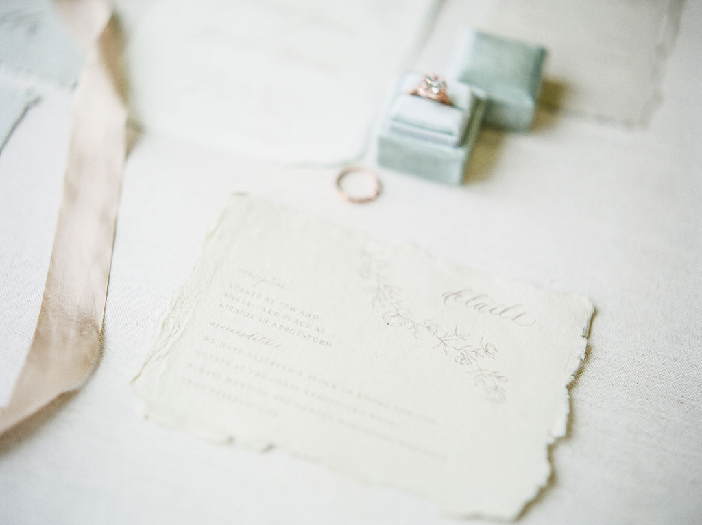 White Wedding Paper Suite by The Ayla View Vancouver