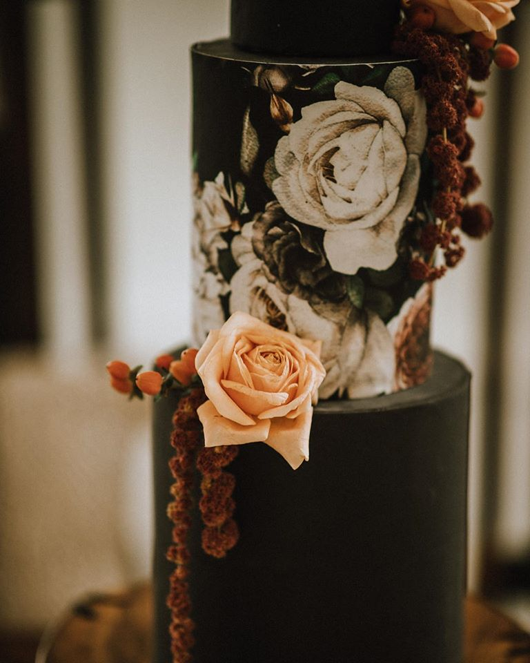 Painted Brown Chocolate Cake by Allison Shelrud Vancouver Island