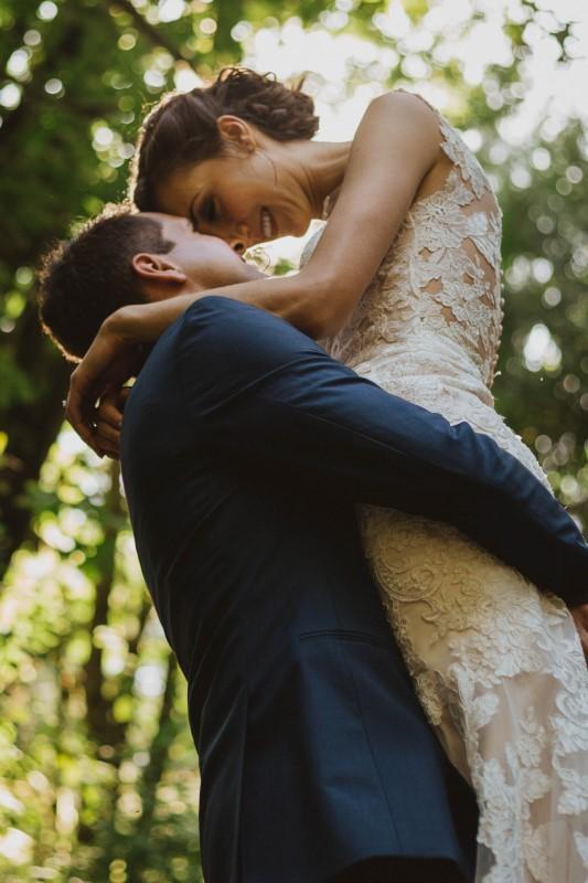 Wedding Couple Embrace for Kacie McColm Photography