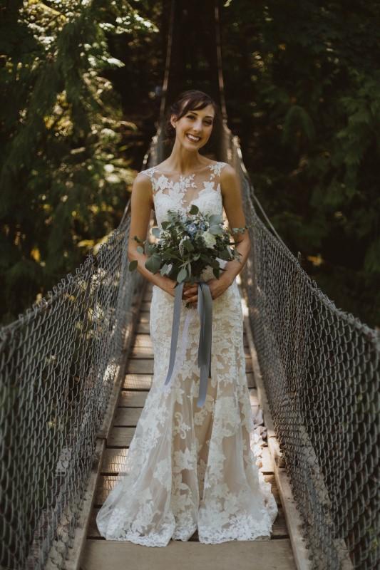 Elegant Lace Country Wedding Attire by Blush Bridal Boutique