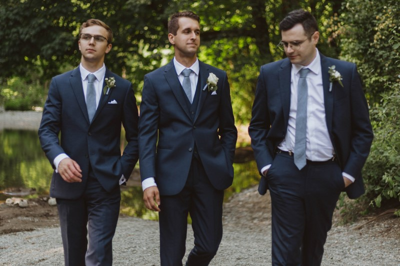 Groom and Groomsmen Attired by Moore's Clothing for Men