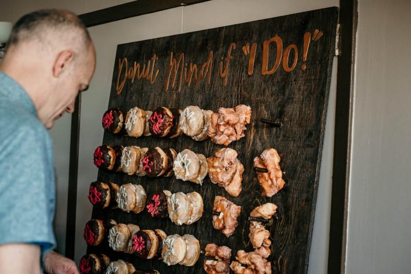 Donut Display at Vancouver Island Elegant Country Wedding
