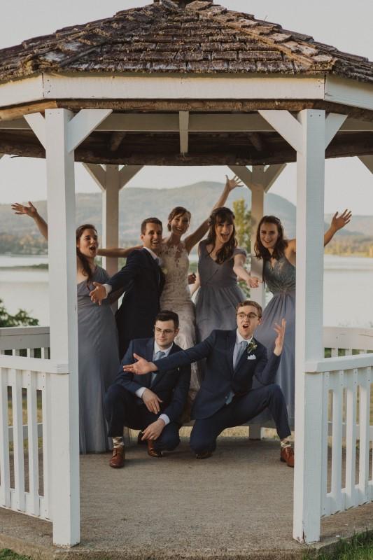 Wedding Party in Gazebo on Vancouver Island