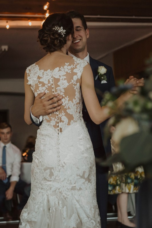 Newlyweds First Dance Elegant Country Wedding Vancouver Island