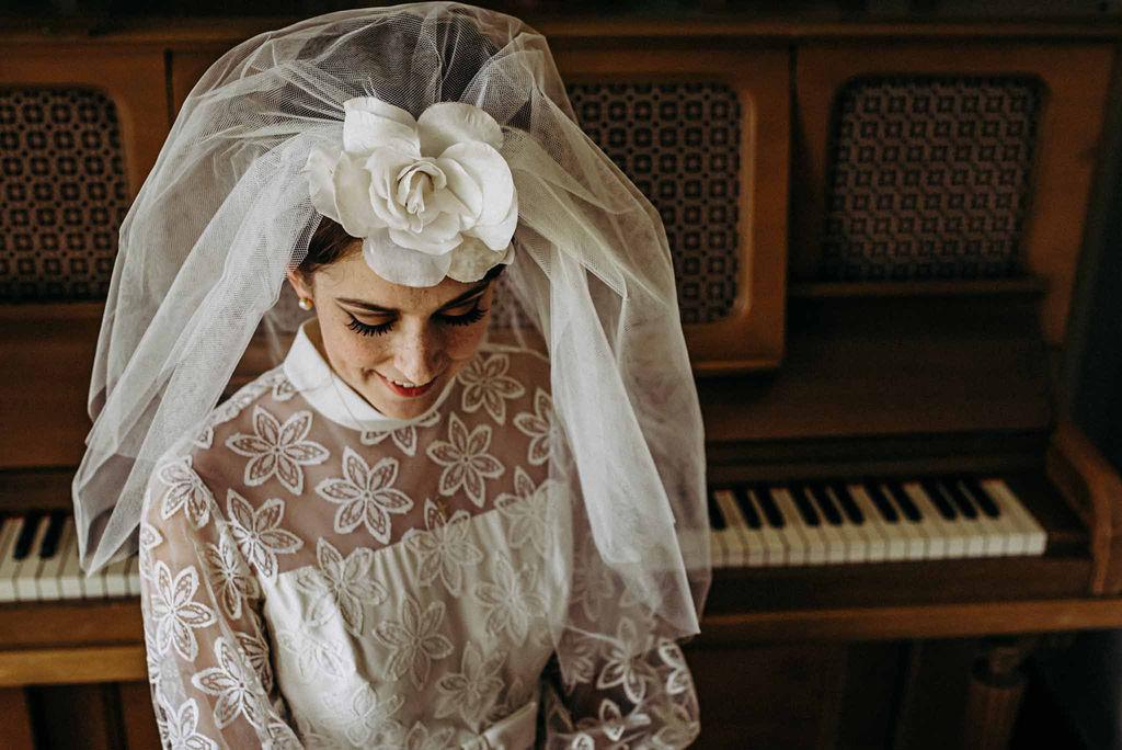 Vintage 60's Bridal Dress and Veil by Eclectic Avenue Vintage