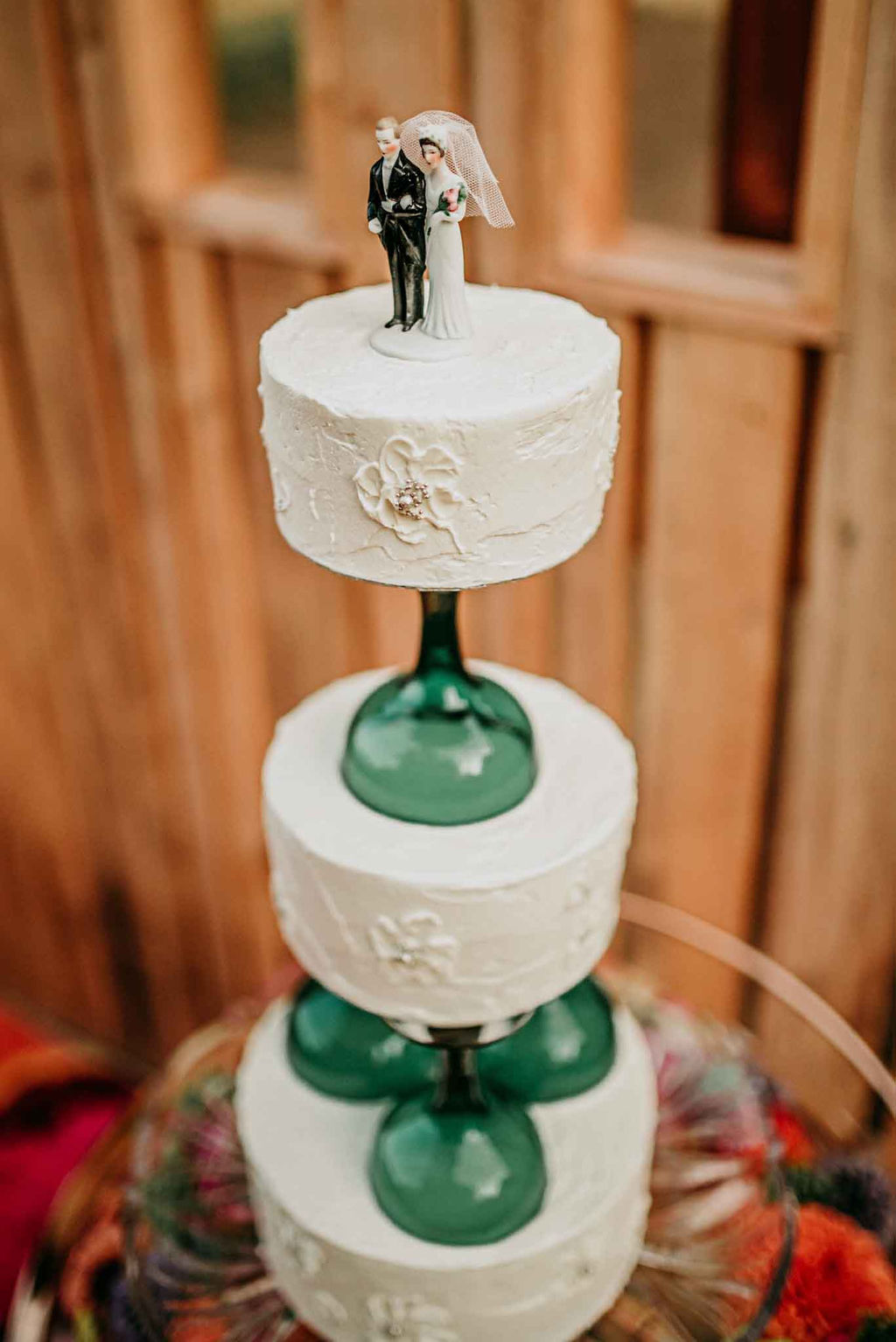 Vintage Wedding Cake by Cobble Hill Cake Co. on Vancouver Island