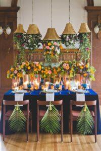 Wedding Reception Table Decor by Trend Decor with Linens by Fare La Fete