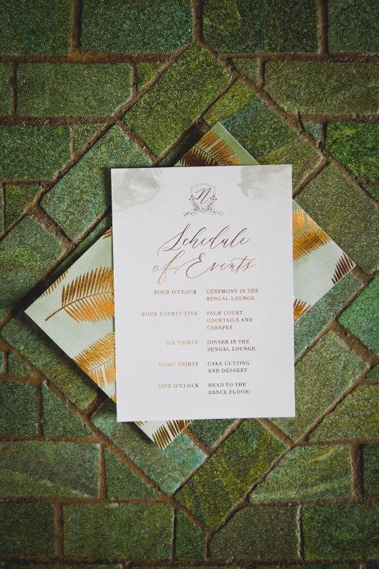 Wedding Stationary by Emma Allen for Bengal Spice at the Empress