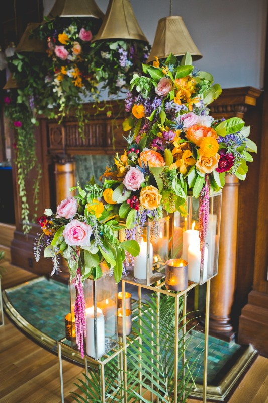 Orange, Pink, Green and Orange Wedding Decor planned by Emma McCormick-The Good Party
