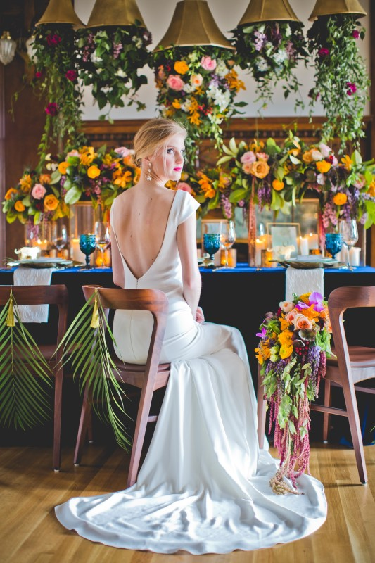 Bridal Gown from The White Peony with Florals by Platinum Floral Designs