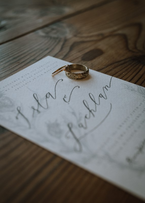 Stationary by Faven Lettering For Vancouver Island Wedding
