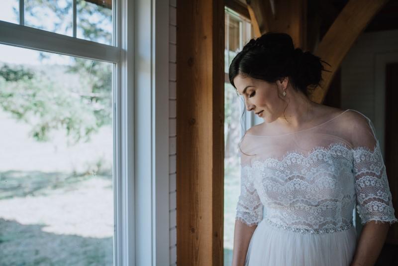 Romantic Bride at Scottish Spirit Wedding at Birds Eye Cove