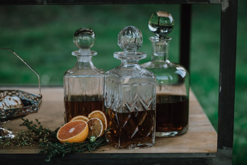 Signature Cocktails for a Scottish Spirit Wedding by Birds Eye Cove