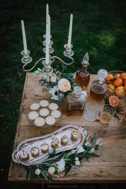 Romantic Scottish Spirit Wedding at Birds Eye Cove Decorated and Styled by Mesa Rentals