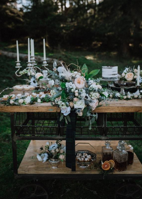 Florals for Scottish Spirit Wedding by Bespoke Blossoms On Vancouver Island