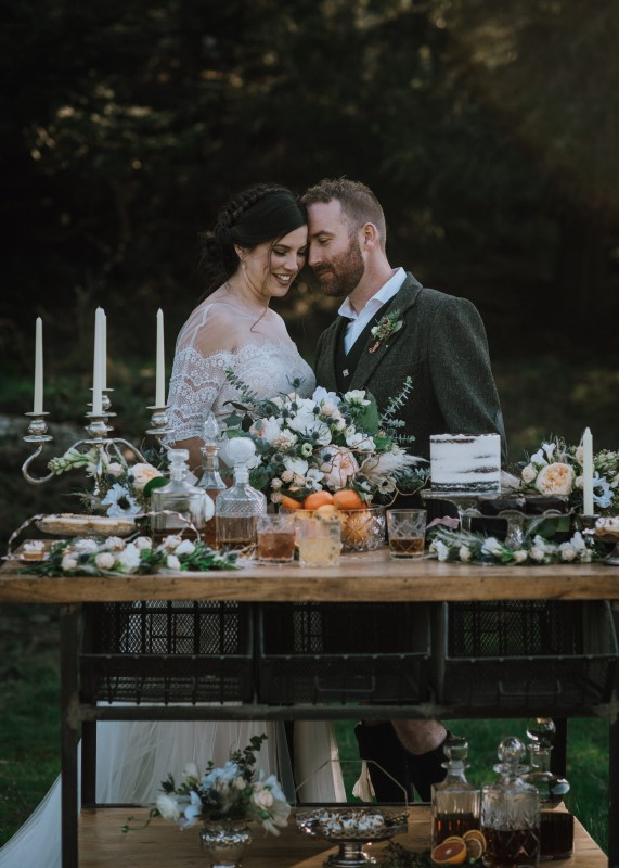Romance and Kilts in a Scottish Themed Wedding at Birds Eye Cove on Vancouver Island