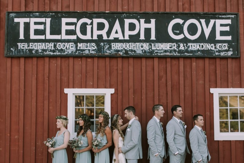 Seaside Romance Bridal Party at Telegraph Cove on Vancouver Island
