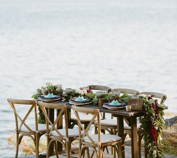 Love Isn't Cancelled on Vancouver Island and Truffles Catering Table on the Beach