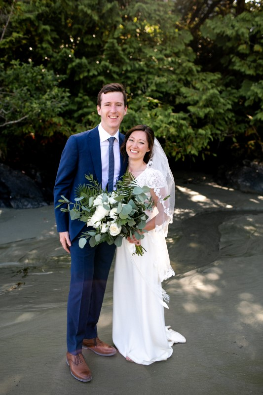 Vancouver Island Newlyweds On Beach Dress by Everly Fine Bridal