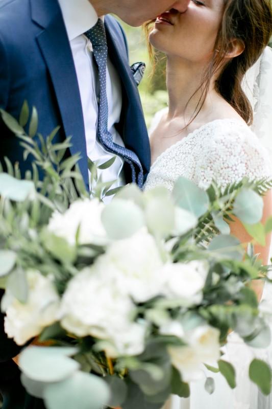 Kissing Wedding Couple Tofino Vancouver Island