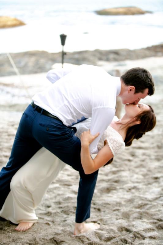 West Coast Wedding Dip Pose by Sabrina Patrice Photography