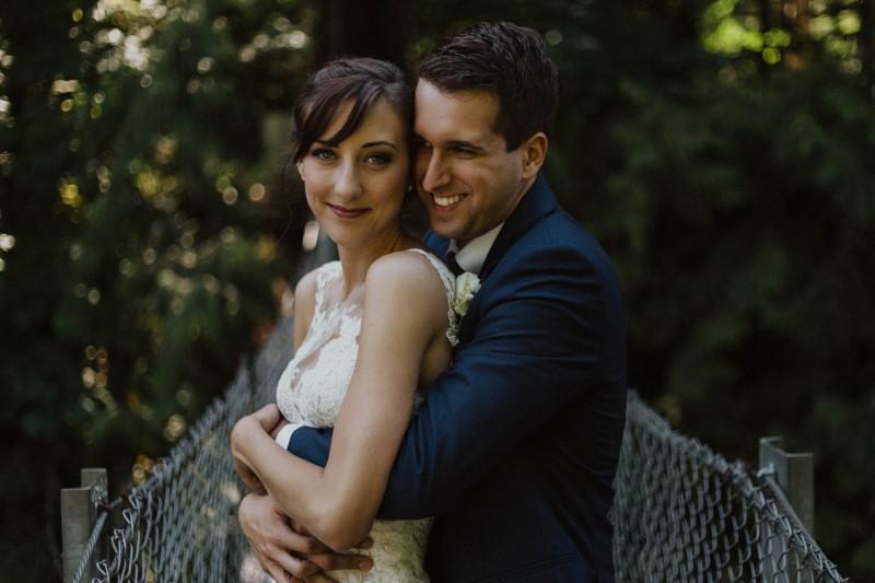 Elegant Country Wedding Newlyweds by Kacie McColm