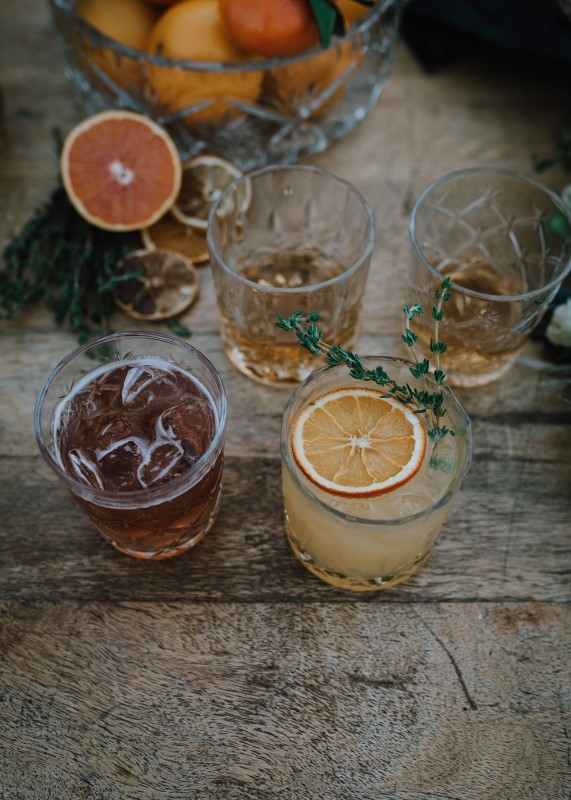 Signature Cocktails at Bird's Eye Cove Farm Vancouver Island by Three Sisters Photography