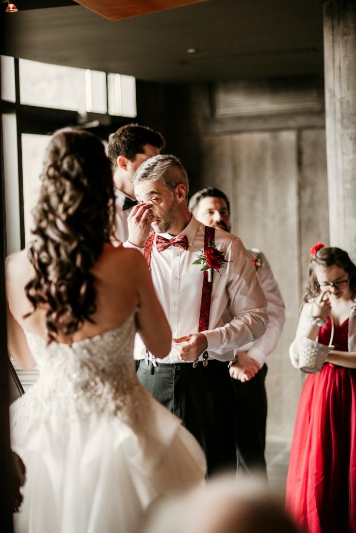 Wedding Ceremony Tears of Happiness at Black Rock Oceanfront Resort