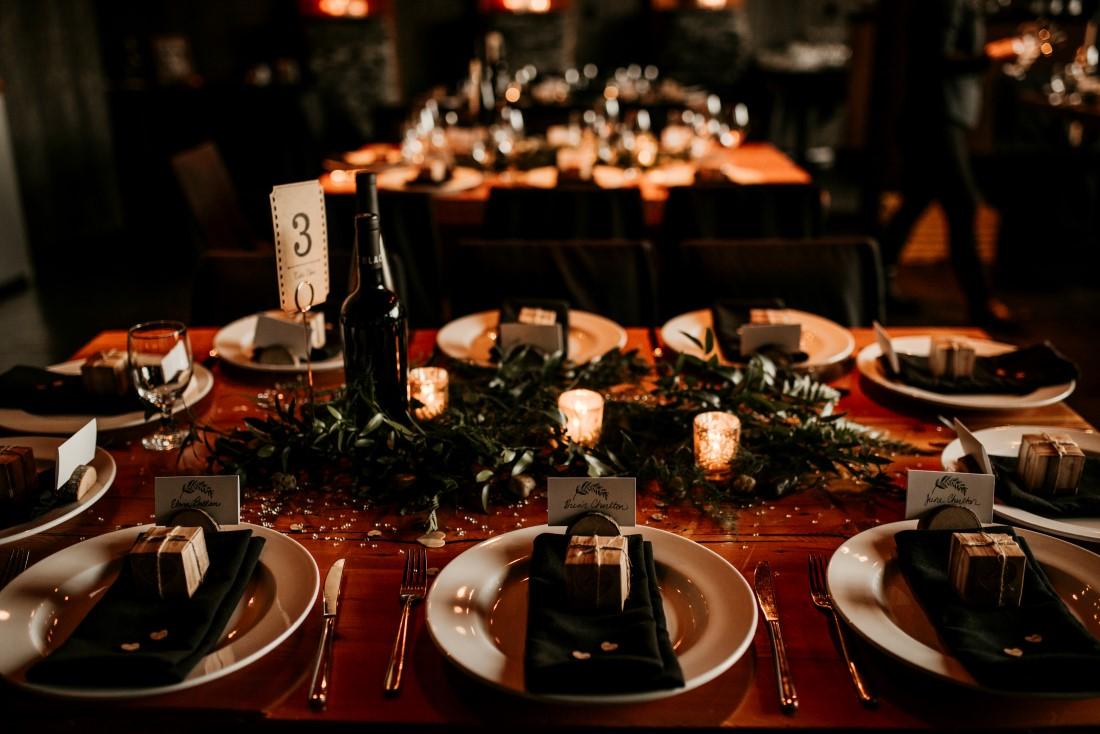 Ucluelet Oceanside Wedding Reception Food and Decor at Black Rock Oceanfront Resort