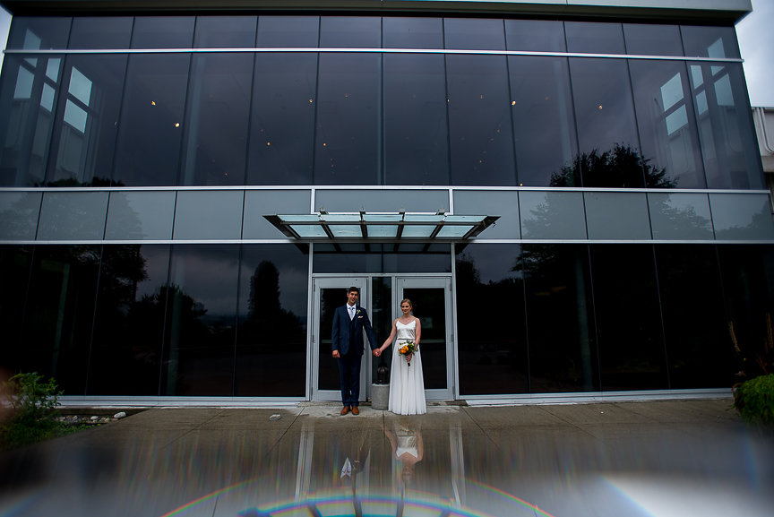 Vancouver Art Museum bride and groom by Meghan Andrews Photography