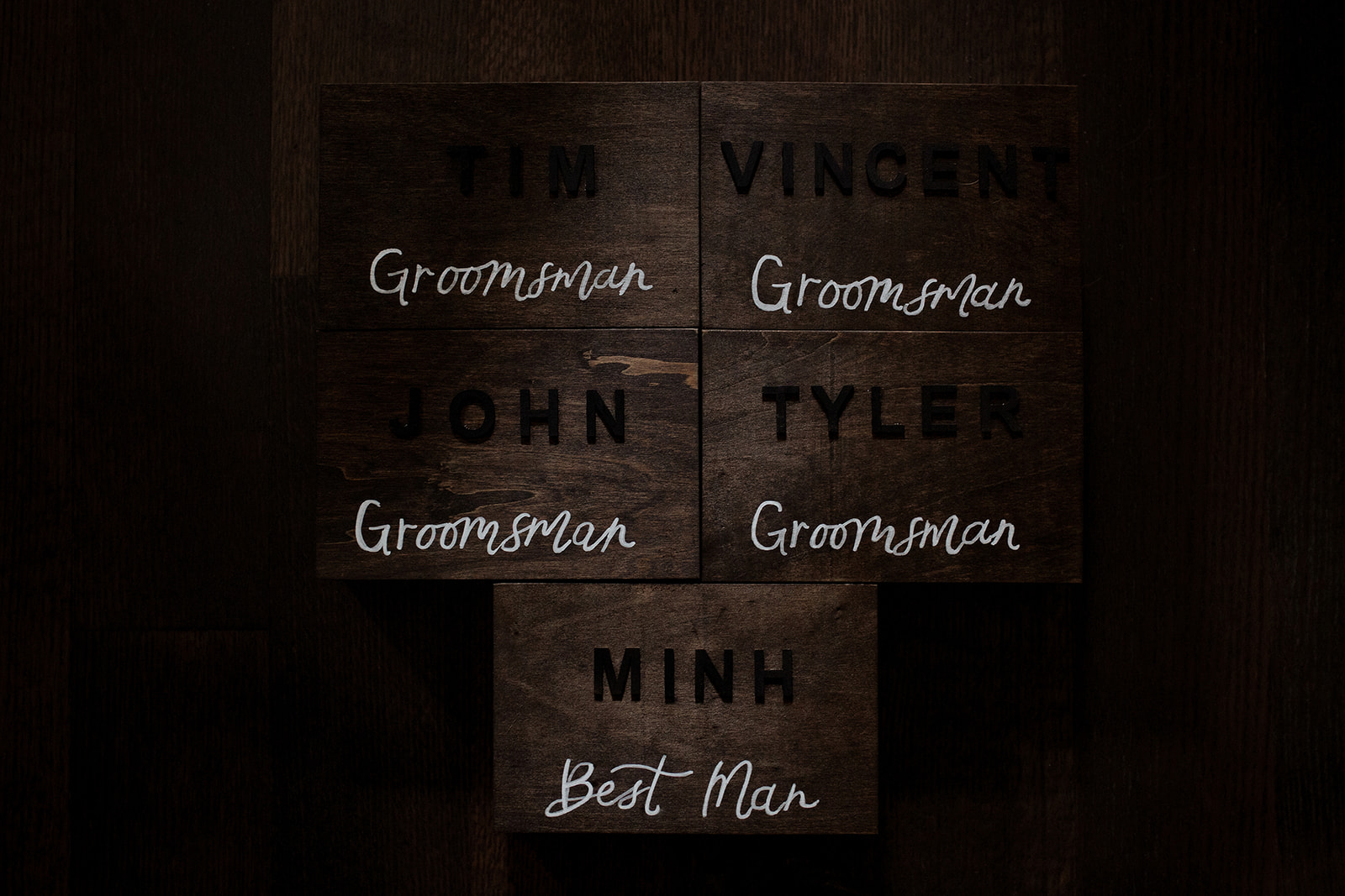 Groomsmen tags by Fiddle and Ink in Vancouver wedding