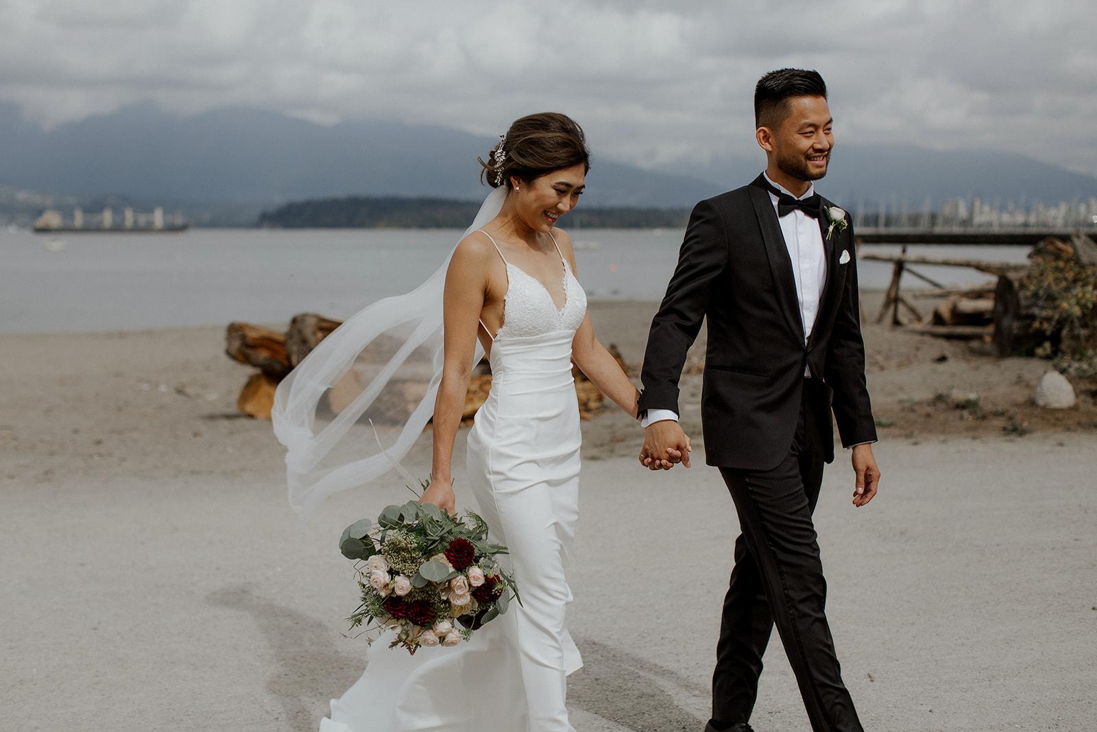 West Coast Beach Bridal Bouquett by Mayhew Florist
