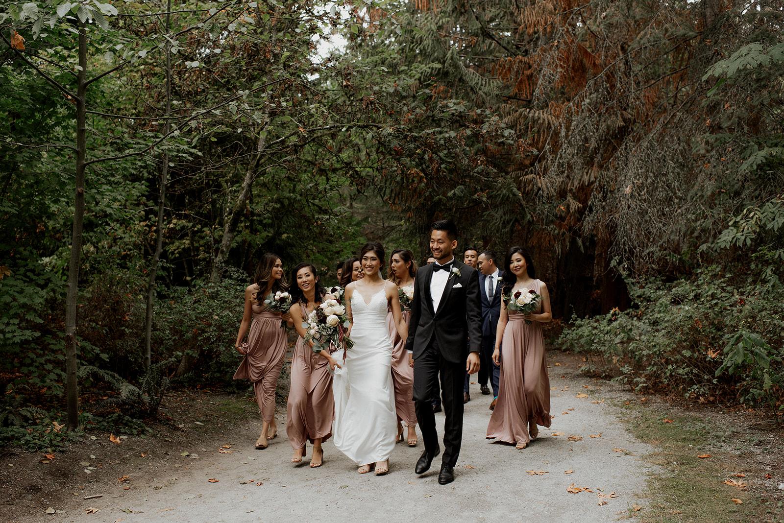 Wedding Party at UBC Rose Garden