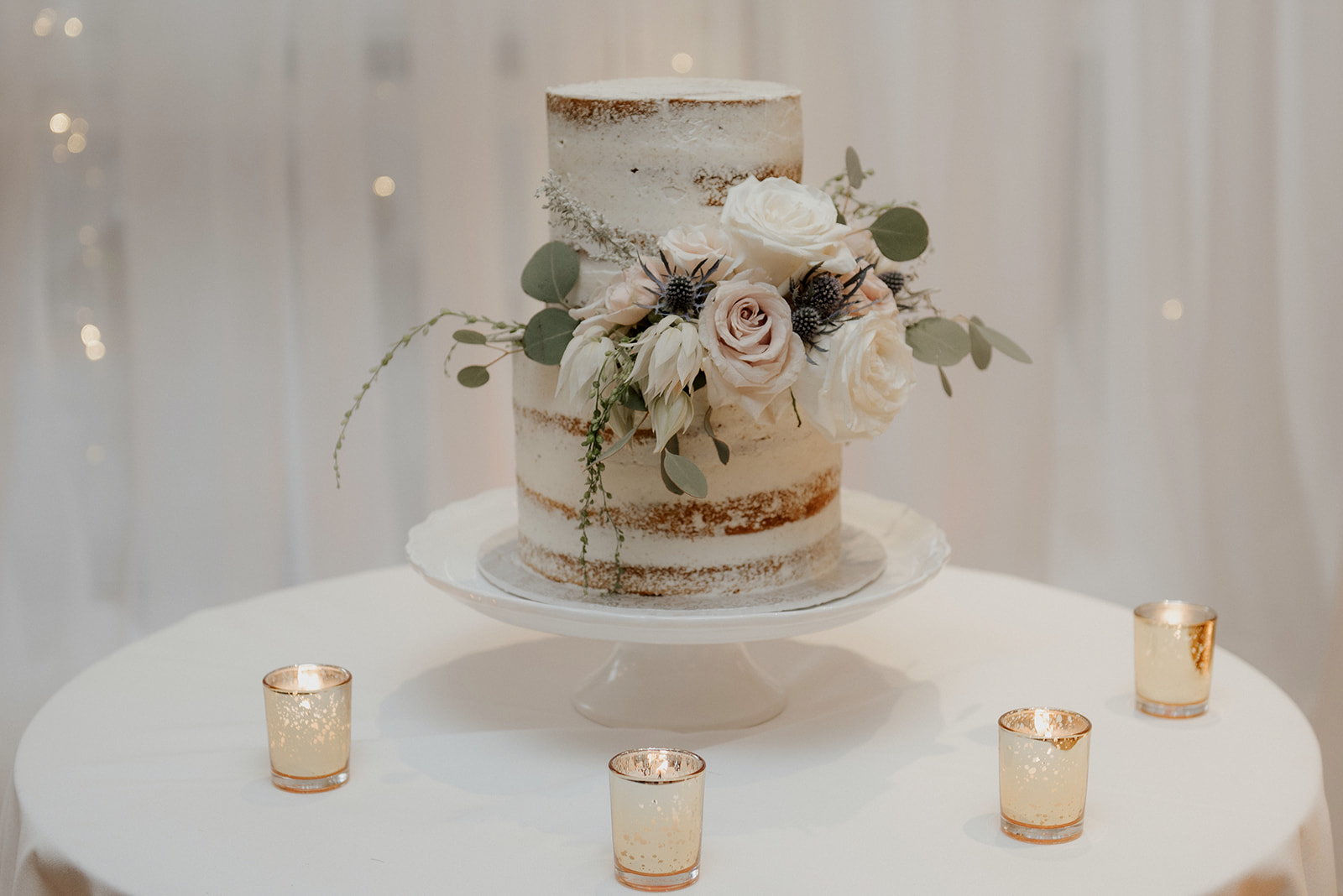 Wedding Cake with white flowers by Sage at UBC in Vancouver