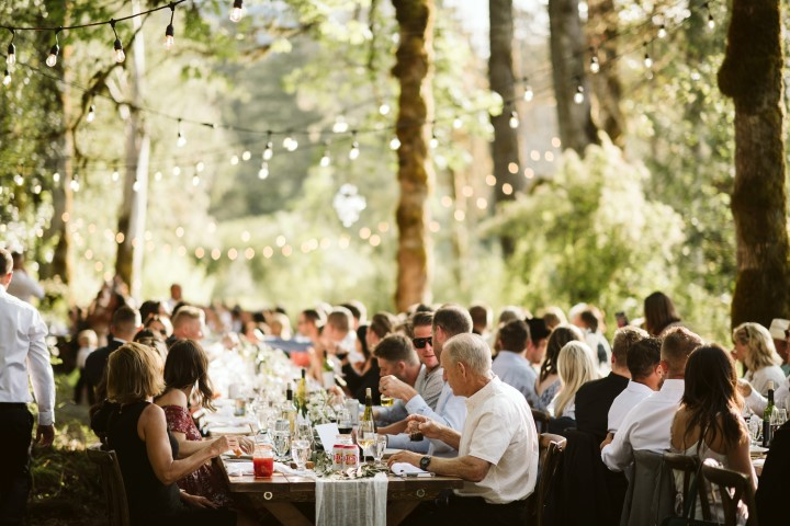 A Forest Wedding Vision Artfully Catered on Vancouver Island