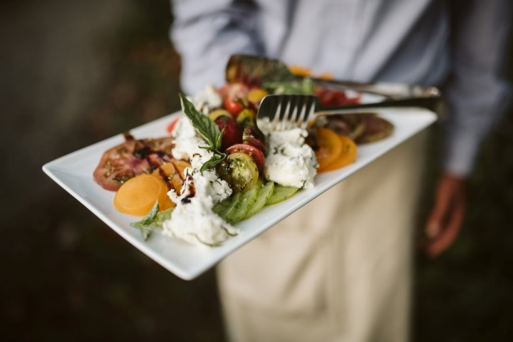 Delicious cuisine served at wedding by Truffles Catering Chef Vancouver Island